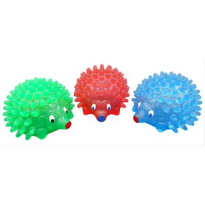 TPR hedgehog design dog treat dispenser
