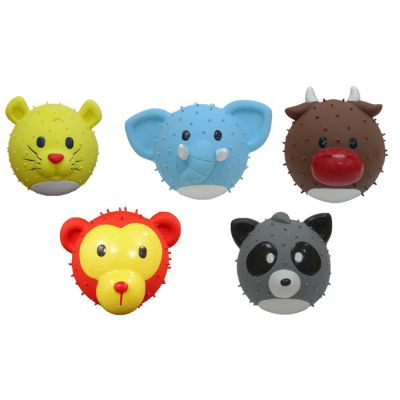 Latex ball shape animal design dog toy