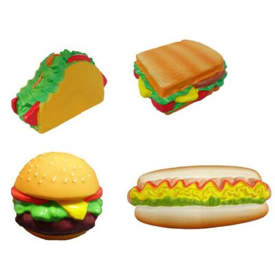 Latex fast food design dog toy