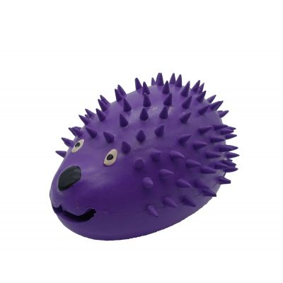 Rubber hedgehog design dog treat dispenser (M)
