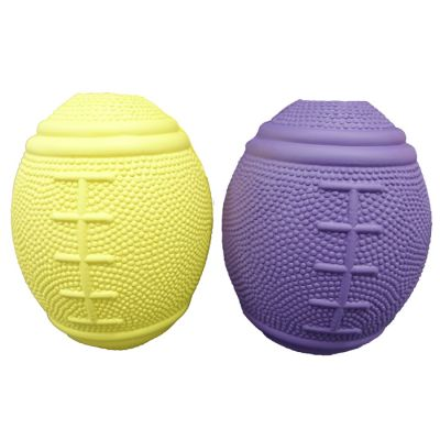 Rubber rugby ball dog toy (L)