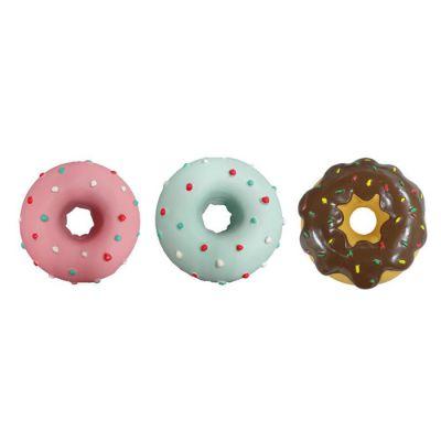 Latex donut design dog toy
