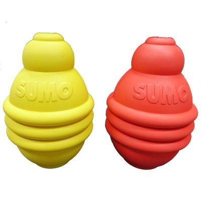 Rubber Sumo play L dog toy